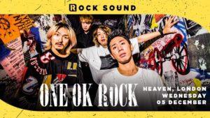 ワンオク ヨーロッパライブツアー Rock Soundが主催 ロンドン公演チケット発売開始「ONE OK ROCK EUROPEAN TOUR 2018」