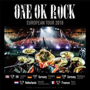 ワンオク ヨーロッパライブツアー「ONE OK ROCK EUROPEAN TOUR 2018」