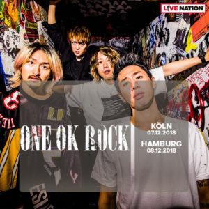 ワンオク ヨーロッパライブツアー Live Nation GSA主催 ドイツ ケルン、ハンブルク2公演チケット発売開始「ONE OK ROCK EUROPEAN TOUR 2018」