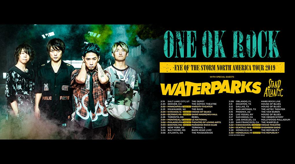 ワンオク セトリ カナダ バンクーバー公演「EYE OF THE STORM NORTH AMERICAN TOUR 2019」【ONE OK ROCK】ファンブログ