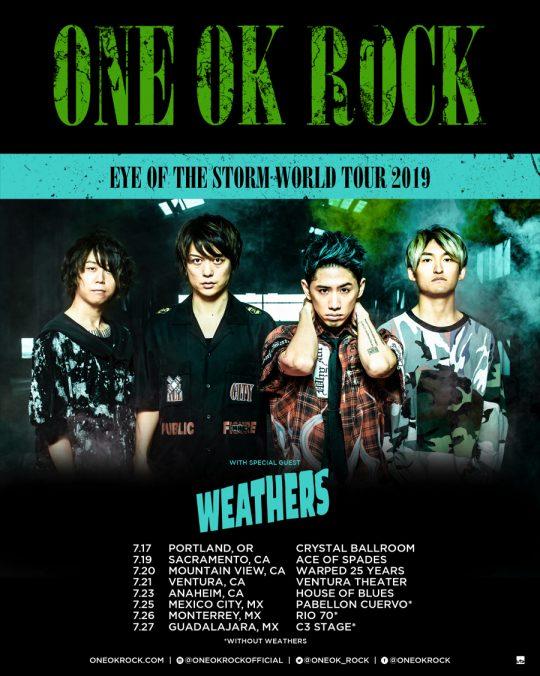 ワンオク セトリ メキシコ グアダラハラ公演「EYE OF THE STORM WORLD TOUR 2019 -US & Mexico-」【ONE OK ROCK】ファンブログ